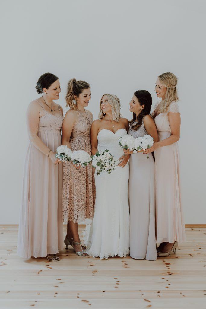 Hochzeitsfoto Brautjunfern