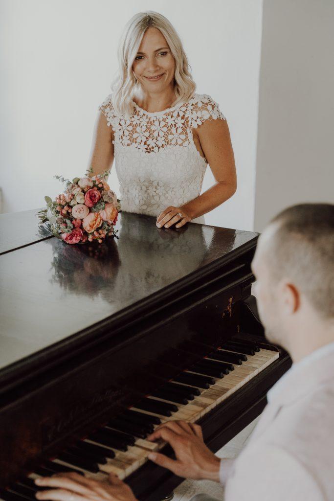 Hochzeitsfoto Klavier